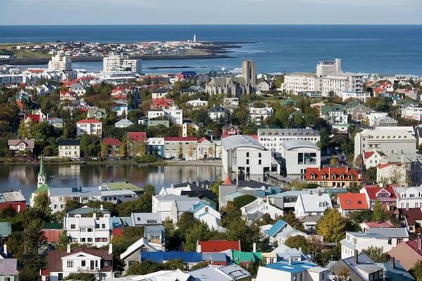 City Centre Photograph - Reykjavik City Centre by Steve Allen/science Photo Library
