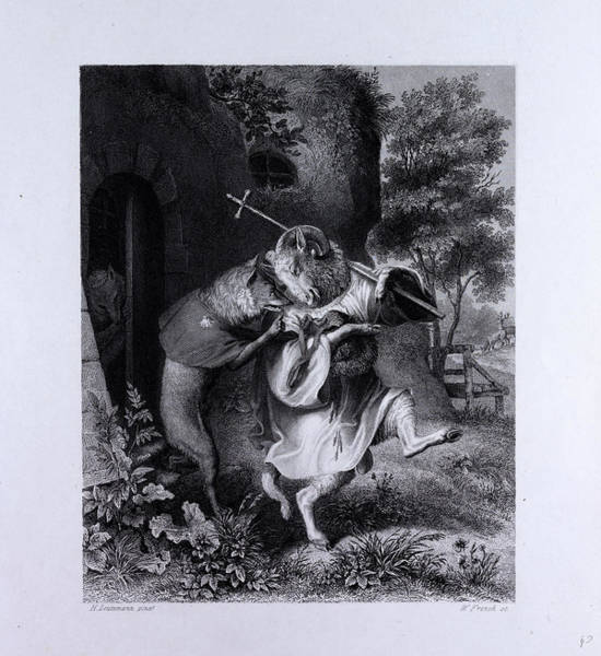 Reynard Wall Art - Drawing - Reynard And Bellin by English School