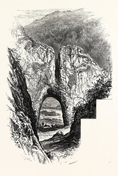 Reynard Wall Art - Drawing - Reynards Cave, Dove Dale, Peak District, England, Uk by English School