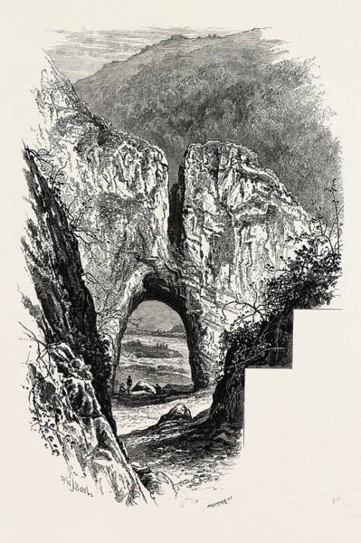 Reynard Wall Art - Drawing - Reynards Cave, Dove Dale, The Dales Of Derbyshire by English School
