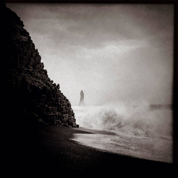 Iphoneography Wall Art - Photograph - Reynisdrangar by Dave Bowman