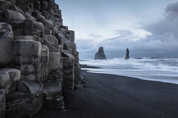 Photograph - Reynisdrangar Rock Sea Stacks by Ed Norton