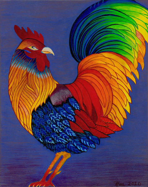 Rhea Painting - Rhea Rooster by Rhea Witthoft