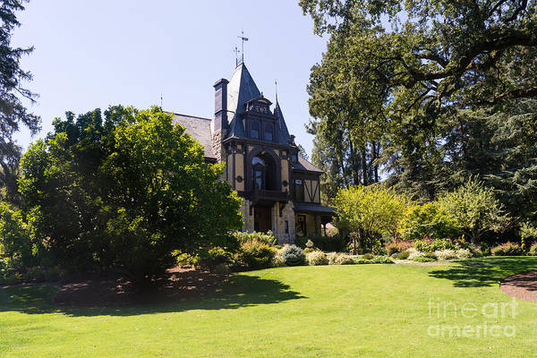 Photograph - Rhine House At Beringer Winery St Helena Napa California Dsc1722 by Wingsdomain Art and Photography