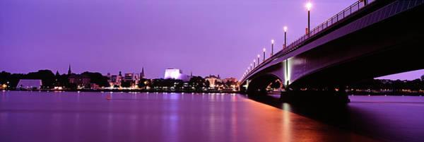 Rhine River Wall Art - Photograph - Rhine River And Bridge by Murat Taner