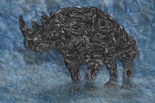 Wall Art - Painting - Rhino 5 by Jack Zulli