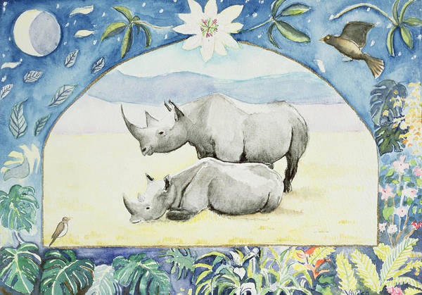 Rhinoceros Photograph - Rhino Month Of February From A Calendar by Vivika Alexander