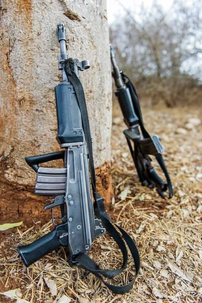 Assault Rifle Wall Art - Photograph - Rhino Security Patrol Guns by Peter Chadwick