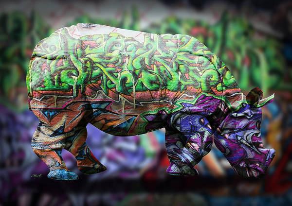 Wall Art - Painting - Rhino4 by Mark Ashkenazi