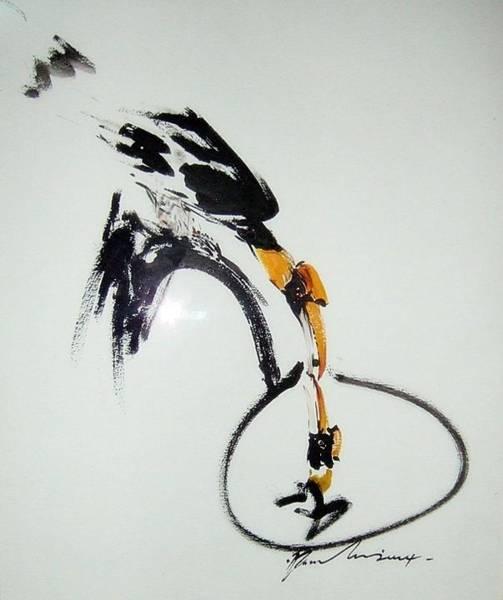 Hornbill Painting - Rhinoceros Hornbill by Pornchai Lerttamasiri