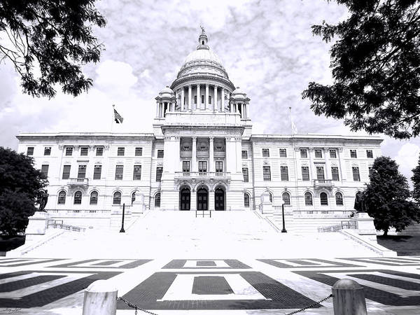 Photograph - Rhode Island State House Bw by Lourry Legarde