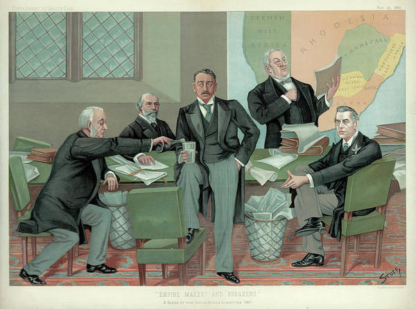 Wall Art - Drawing - Rhodes And Chamberlain With  The South by Mary Evans Picture Library
