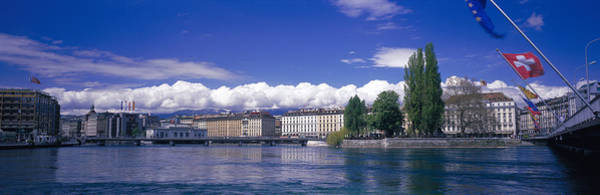 Rhone River Photograph - Rhone River Geneva Switzerland by Panoramic Images