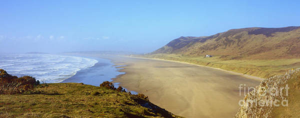 Photograph - Rhossili Bay Panorama by Paul Cowan