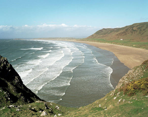 Wall Art - Photograph - Rhossili Beach by Michael Marten/science Photo Library
