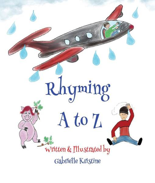 A To Z Digital Art - Rhyming A To Z Cover by Gabrielle Kristine