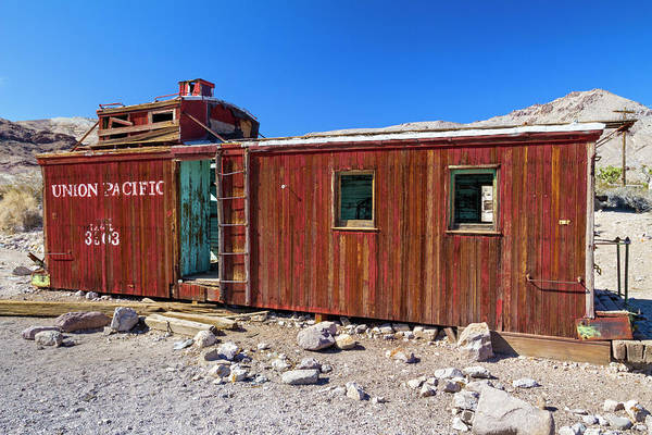 Caboose Wall Art - Photograph - Rhyolite Ghost Town, Nevada, Usa by David H. Carriere