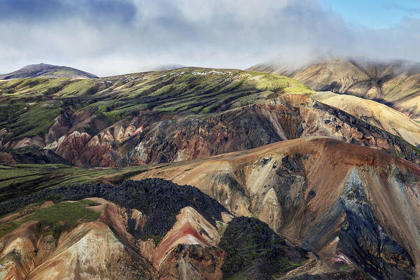 Photograph - Rhyolite Mountains Landmannalaugar by Heike Odermatt