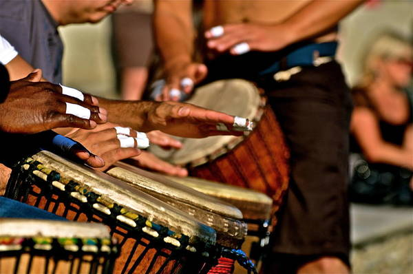 Drum Circle Wall Art - Photograph - Rhythm Fingers by Gregory  Kent