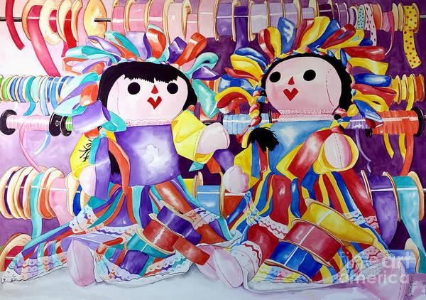 Painting - Ribbon Shoppin by Kandyce Waltensperger