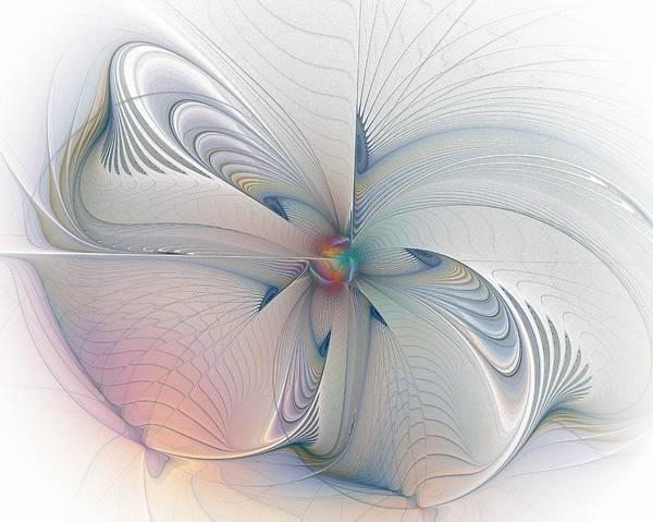 Digital Art - Ribbons Of Blue by Amanda Moore