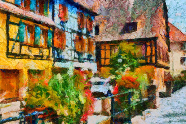 Photograph - Ribeauville Village by Jenny Setchell