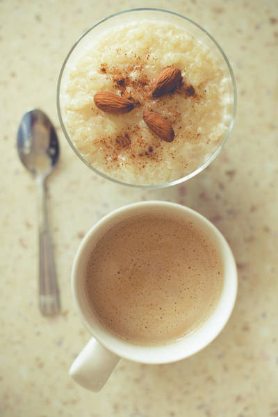 Wall Art - Photograph - Rice Pudding And Coffee by Marika Popandopulo Photography