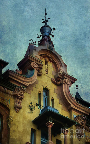 Wall Art - Photograph - Rich Decorate Building In Yellow And Red by Jaroslaw Blaminsky