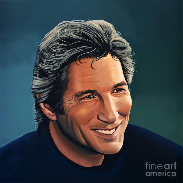 Wall Art - Painting - Richard Gere by Paul Meijering