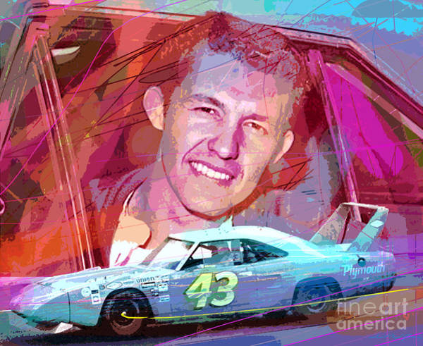 Painting - Richard Petty Superbird by David Lloyd Glover