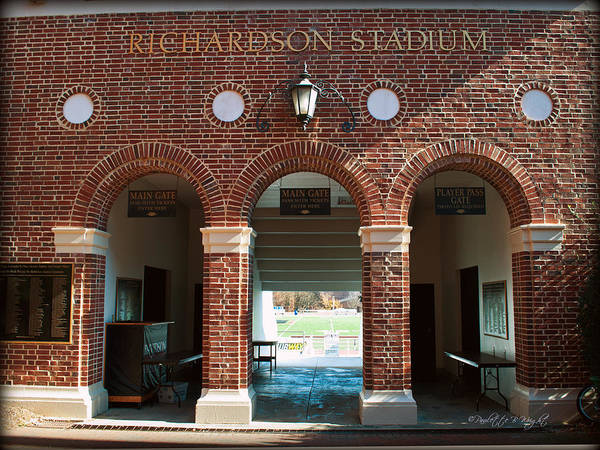 Photograph - Richardson Stadium Main Gate - Davidson College by Paulette B Wright