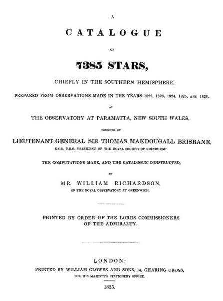 Title Page Wall Art - Photograph - Richardson's Star Catalogue by Royal Astronomical Society/science Photo Library