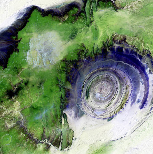 Ir Photograph - Richat Structure by Nasa