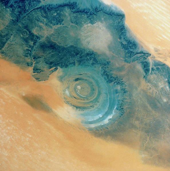 Sahara Photograph - Richat Structure by Nasa/science Photo Library