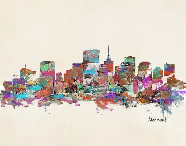 Skyline Wall Art - Painting - Richmond Virginia by Bri Buckley