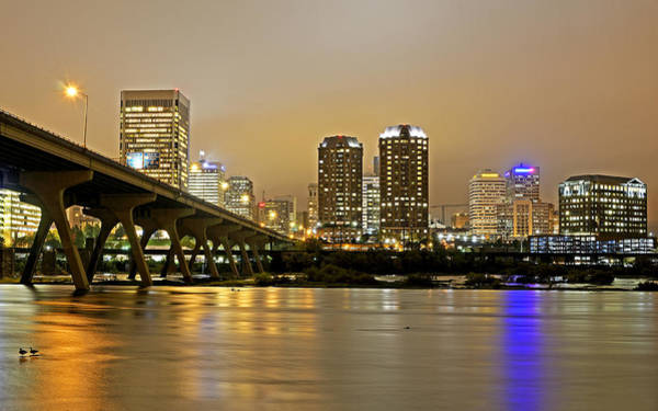 Wall Art - Photograph - Richmond Virginia From The James River At Night by Brendan Reals