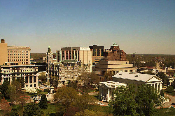Photograph - Richmond Virginia - Old And New Capitol Buildings by Paulette B Wright