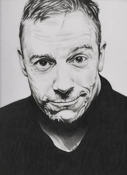 Drawing - Rick Fortson - Rick Kills Pencils by Fred Larucci