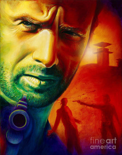 The Walking Dead Painting - Rick Grimes by Scott Spillman