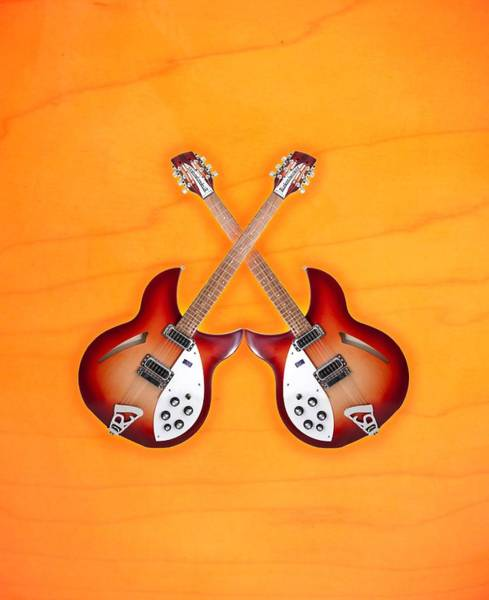 Wall Art - Digital Art - rickenbacker 12-S guitar by Doron Mafdoos
