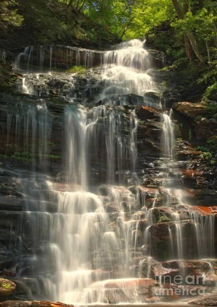 Photograph - Ricketts Glen Ganoga Falls by Adam Jewell