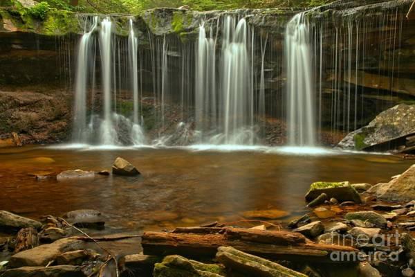Photograph - Ricketts Glen Oneida Falls by Adam Jewell