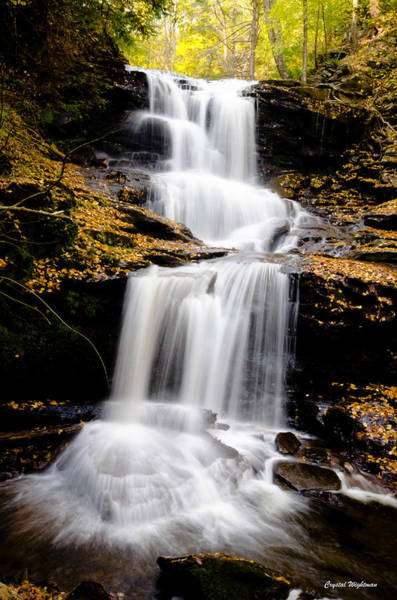 Photograph - Ricketts Glen Three Tiered Waterfall by Crystal Wightman