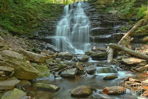 Photograph - Ricketts Glen Waterfall Canyon by Adam Jewell