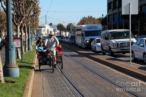 Photograph - Rickshaw Pedicab Along The San Francisco Embarcadero 5d26146 by Wingsdomain Art and Photography