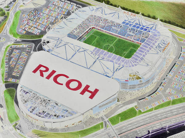 Wall Art - Painting - Ricoh Arena - Coventry City Fc by Brian Casey