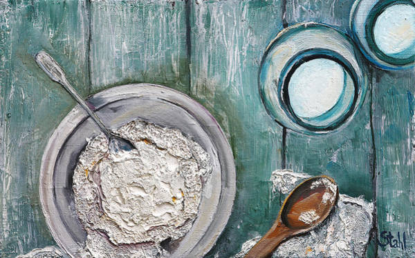 Protein Painting - Ricotta by Natalia Stahl