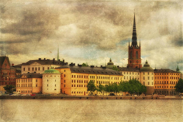 Photograph - Riddarholmen Island From Stadshusparken - Central Stockholm - Sweden by Photography  By Sai