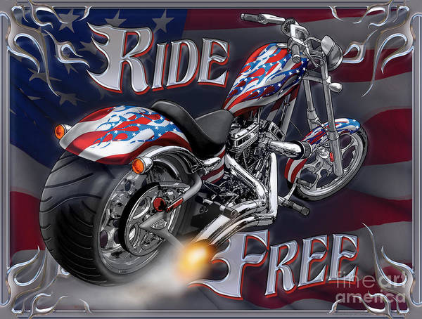 Painting - Ride Free by JQ Licensing
