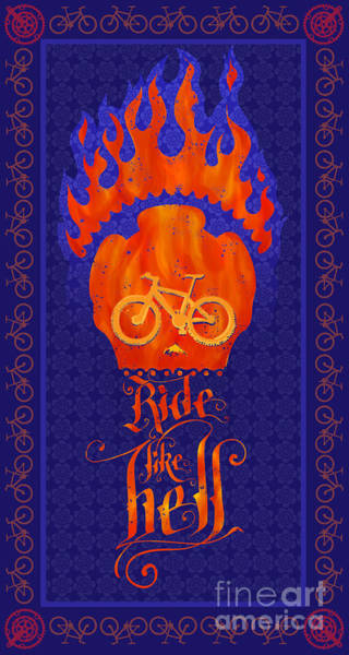 Wall Art - Painting - Ride Like Hell by Sassan Filsoof